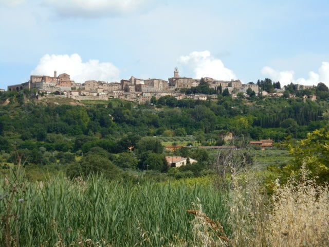 Montepulciano from a distance.