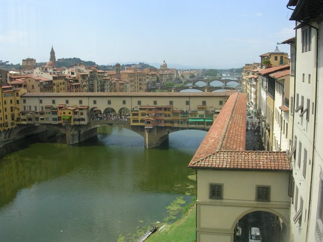 And of course here is the Ponte Vecchio with the Vasari corridor in the foreground.