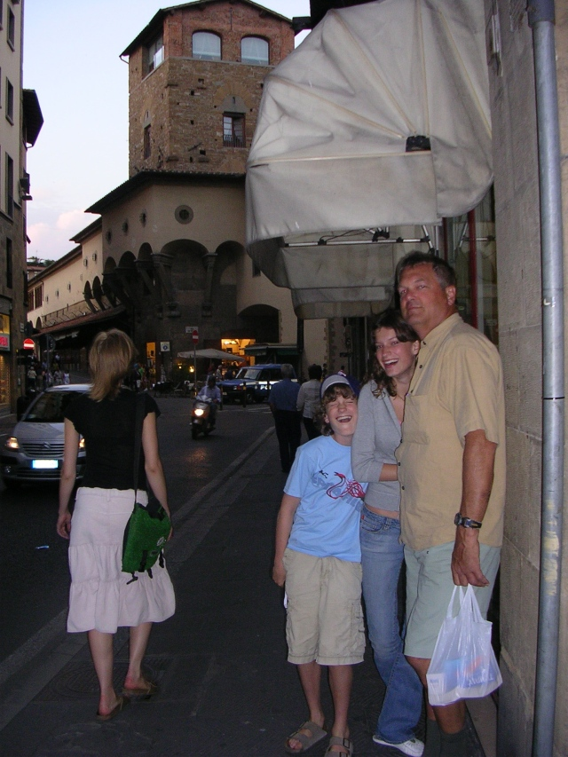 Here we are in front of the Mannelli Tower back in 2005.