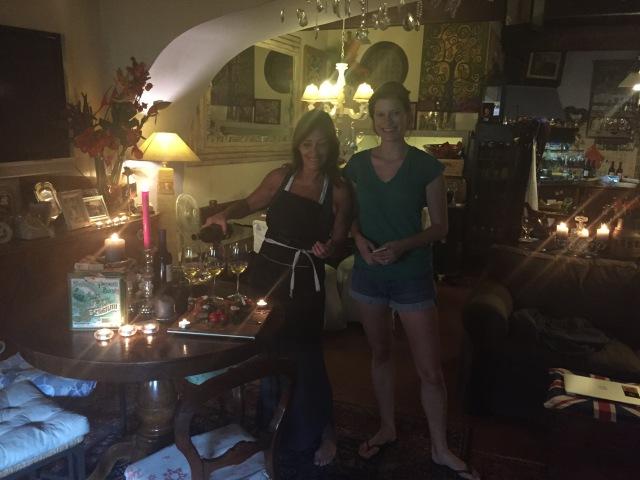 Antipasti in Barbara's lovely apartment in the heart of Trastevere.