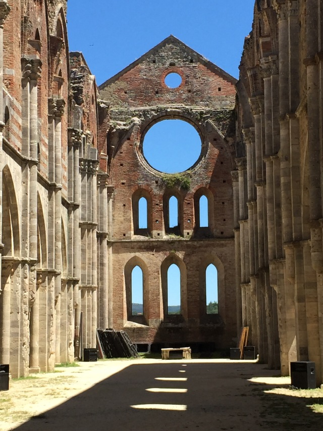 San Galgano interior: where we ate our picnic