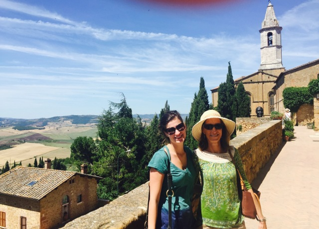 View of Pienza (with a bit of Richard's thumb)