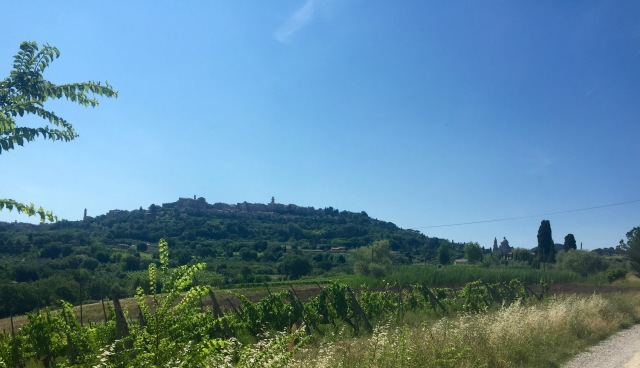A view of Montepulciano with San Biagio