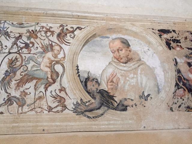 Saint Bernardo, the founder of the Olivetan order