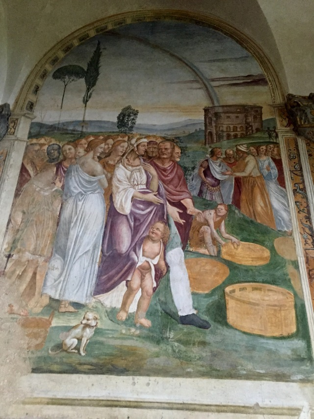 Multiplication of the Loaves and Fishes: panel one