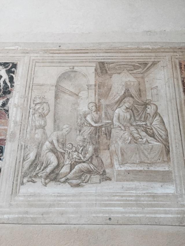 Sinopia or undersketch for fresco