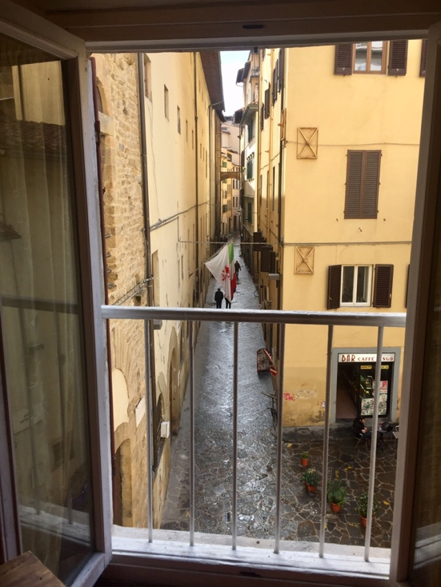View from my apartment. Palazzo Vecchio is two blocks straight ahead.